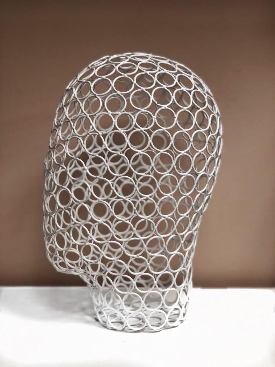 Интерьерный Манекен головы для шапок ( железный )