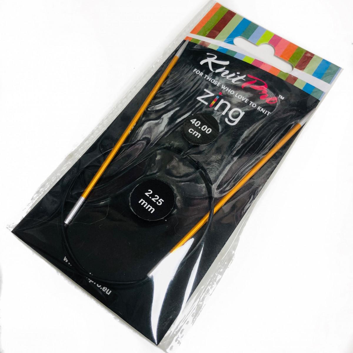 Спицы 2,5 Книт Про Зинг ( KnitPro Zing) леска 40 см