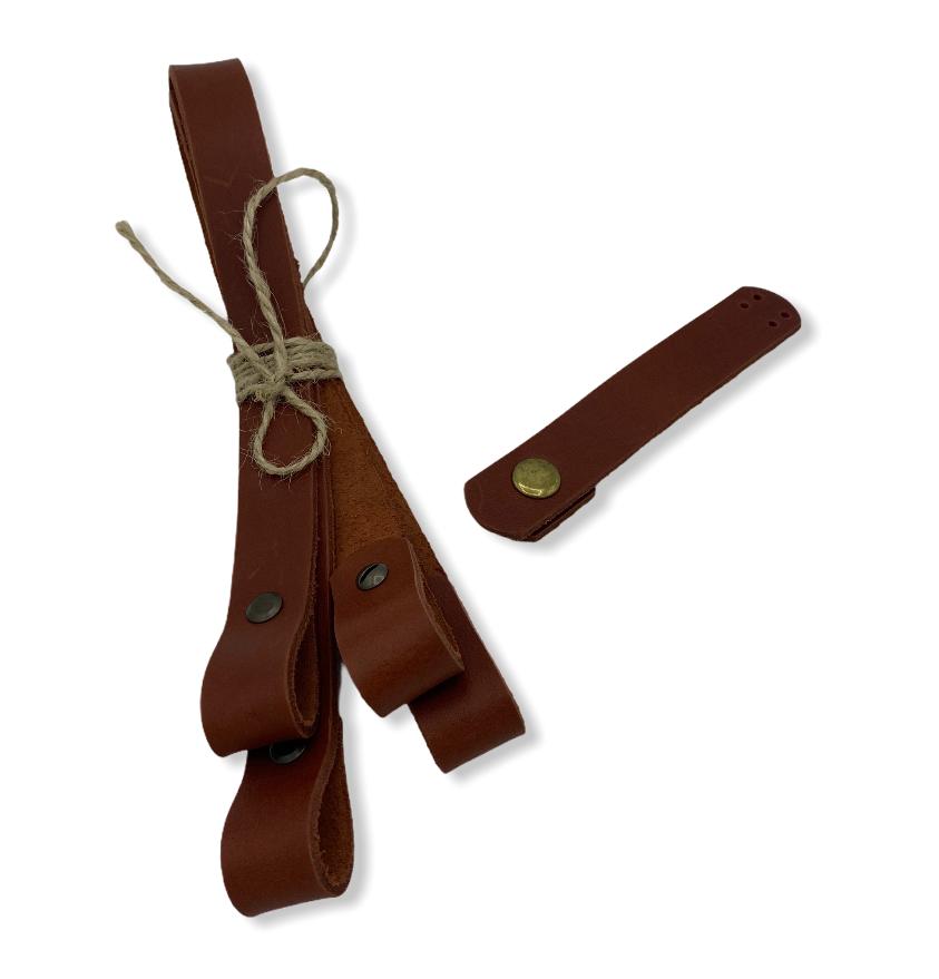 Комплект для сумки /ручки на винтах из кожи 45 см, застежка /